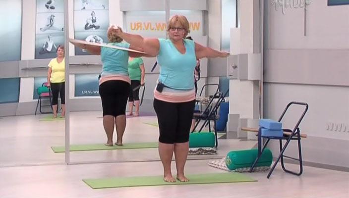 Йога для полных с татьяной мыскиной (1-9 выпуск) / 2014 / ру / iptvrip